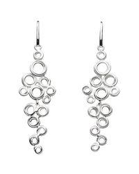 Kit Heath   Metallic Coil Cluster Drop Earrings   Lyst