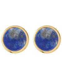 Dyrberg/Kern - Blue Dyrberg/kern Round Stud Earrings - Lyst