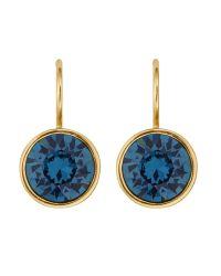 Dyrberg/Kern - Blue Dyrberg/kern Swarovski Crystal Hook Earrings - Lyst
