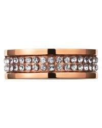 Dyrberg/Kern | Metallic Dyrberg/kern Fratianne Rose Gold Plated Swarovski Crystal Ring | Lyst