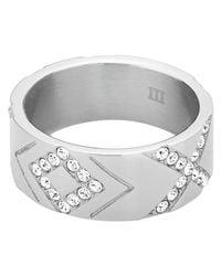 Dyrberg/Kern - Metallic Dyrberg/kern Abey Crystal Ring - Lyst