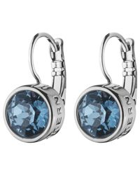 Dyrberg/Kern | Blue Dyrberg/kern Swarovski Crystal French Hook Drop Earrings | Lyst