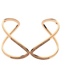 Melissa Odabash | Pink Rose Gold Plated Swarovski Crystal Open Cuff | Lyst