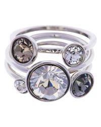 Ted Baker - White Jackie Jewel Clustered Ring - Lyst