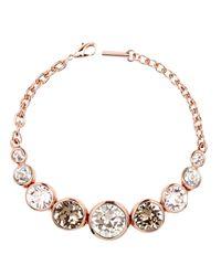 Karen Millen | Metallic Swarovski Teardrop Bracelet | Lyst