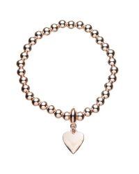 John Lewis | Metallic Ball Bead Heart Charm Stretch Bracelet | Lyst