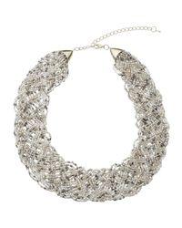John Lewis   Metallic Seed Bead Collar Necklace   Lyst
