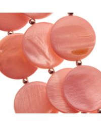 John Lewis | Pink Beaded Disc Layered Necklace | Lyst