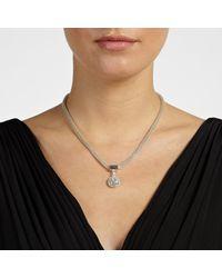 John Lewis - Metallic Paved Pendant Mesh Necklace - Lyst