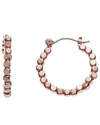 John Lewis - Metallic Bead Detail Hoop Earrings - Lyst