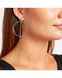 John Lewis - Metallic Large Circle And Stem Earrings - Lyst