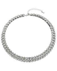 John Lewis | Metallic Diamanté Statement Collar Necklace | Lyst