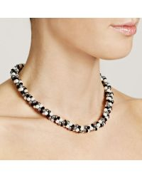 John Lewis - Black Twist Faux Pearl Necklace - Lyst