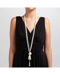 John Lewis | White Long Tassel Faux Pearl Necklace | Lyst