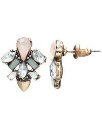 John Lewis | Metallic Glass Crystal Fashion Drop Earrings | Lyst