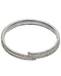 John Lewis - Metallic Faux Pearl And Cubic Zirconia Stretch Bracelet - Lyst