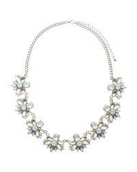 John Lewis | Metallic Floral Crystal Statement Necklace | Lyst
