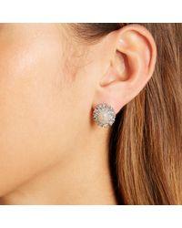 John Lewis - Metallic Faux Pearl And Cubic Zirconia Large Stud Earrings - Lyst