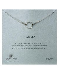 Dogeared | Metallic Original Karma Sterling Silver Necklace | Lyst
