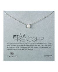 Dogeared | Metallic Sterling Silver Pearls Of Friendship Necklace | Lyst