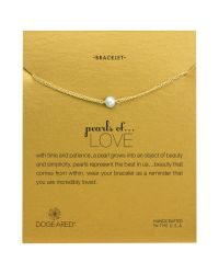 Dogeared - Metallic Pearls Of Love Friendship Happiness Bracelet - Lyst