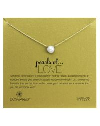 Dogeared | Metallic 14ct Gold Plated Freshwater Pearl Pendant Neckalce | Lyst