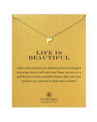 Dogeared | Metallic Life Is Beautiful Hummingbird Pendant Necklace | Lyst
