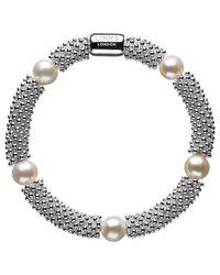 Links of London | Metallic Effervescence Star White Pearl Bracelet | Lyst