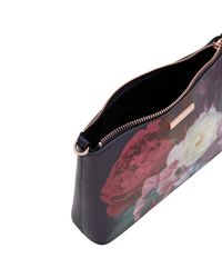 Ted Baker - Blue Blushing Bouquet Leather Cross Body Bag - Lyst