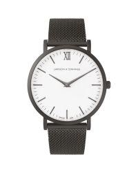 Larsson & Jennings - Black Lugano 40mm Watch Anthracite Milanese/white - Lyst