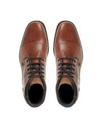 Dune - Brown Chopper Toecap Lace Shoes for Men - Lyst