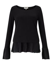 Somerset by Alice Temperley | Black Pleat Hem Jersey Top | Lyst
