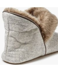 John Lewis - Natural Marled Boot Slippers - Lyst