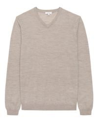 Reiss | Multicolor Emporer Merino Wool V-neck Jumper for Men | Lyst
