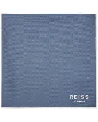 Reiss   Blue Moon Silk Pocket Square for Men   Lyst