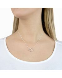 Georg Jensen - Metallic Looped Heart Pendant Necklace - Lyst