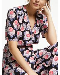 Somerset by Alice Temperley - Black Lace Floral Print Jumpsuit - Lyst