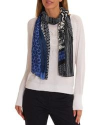 Betty Barclay | Blue Multi-print Viscose Scarf | Lyst
