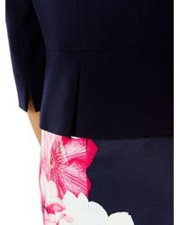 Coast - Blue Deandra Short Peplum Jacket - Lyst