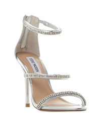 Steve Madden - Metallic Wren-r Sm Jewelled Strap Stiletto Sandals - Lyst