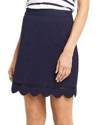 Oasis - Blue Scallop Skirt - Lyst