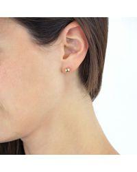 Ib&b - Pink 9ct Gold Ball Stud Earrings - Lyst