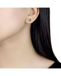 Ib&b - 18ct Yellow Gold Knot Stud Earrings - Lyst