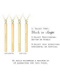 Ib&b - Metallic Vertical Bar Initial Pendant Necklace - Lyst
