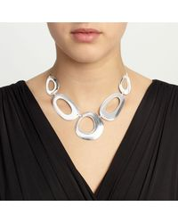 John Lewis - Metallic Cutout Circles Necklace - Lyst