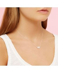 Estella Bartlett - Metallic Feather Pendant Necklace - Lyst