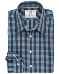 Thomas Pink - Blue Austin Check Slim Fit Shirt for Men - Lyst