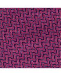 Thomas Pink - Purple Tiverton Optical Woven Silk Tie for Men - Lyst