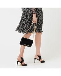 L.K.Bennett - Black Zadie Leather Shoulder Bag - Lyst