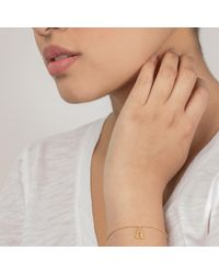 Dogeared - Metallic Gold Plated 'a' Love Letter Bracelet - Lyst
